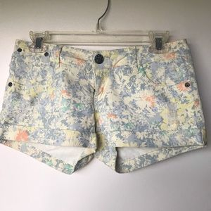 Floral booty shorts